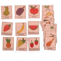 Fruit and vegetables - English cards