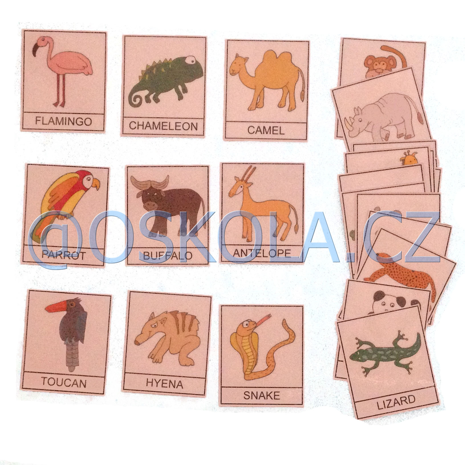 Animals 2 - English cards